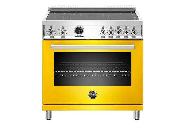 "Large image of Bertazzoni Professional Series 36"" Yellow Induction Range - PROF365INSGIT"