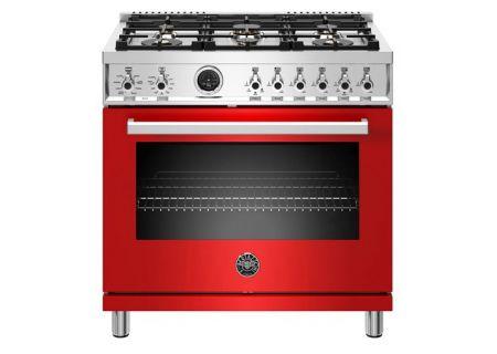 """Bertazzoni Professional Series 36"""" Red Dual Fuel Range - PROF366DFSROT"""