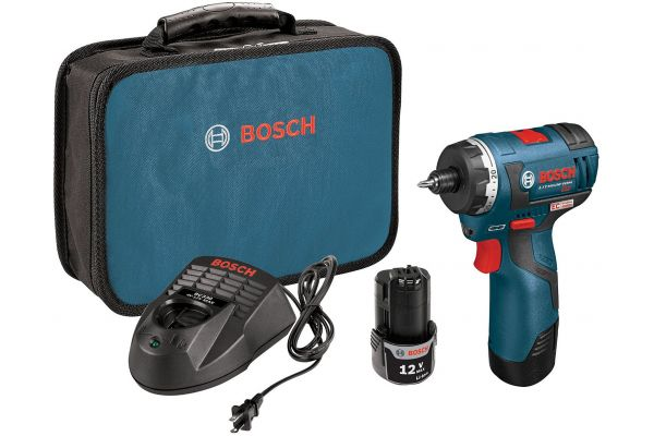 """Bosch Tools 12V Lithium Ion 1/4"""" Drill/Driver - PS22-02"""