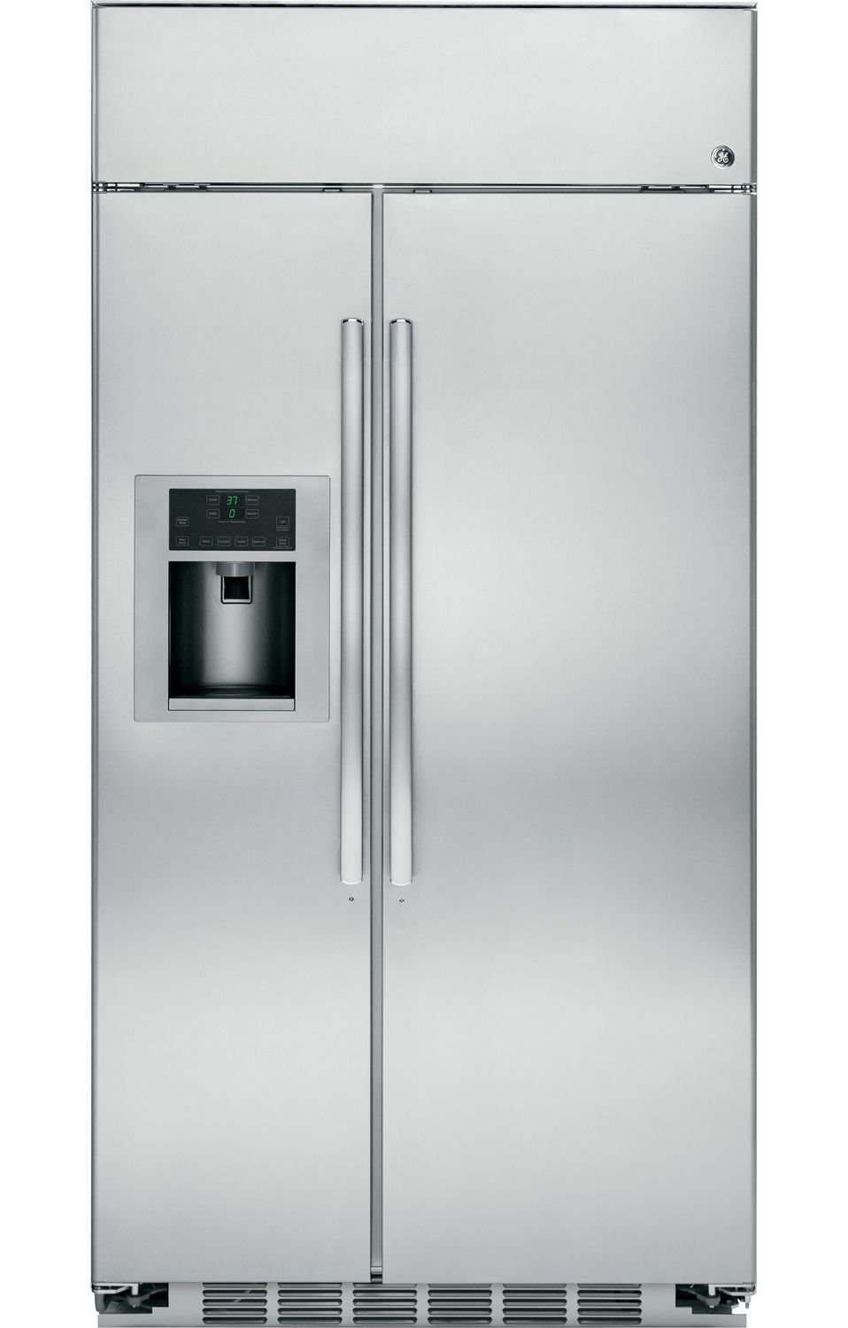 ge profile built in side by side refrigerator psb48yshss. Black Bedroom Furniture Sets. Home Design Ideas