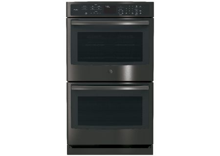 """GE Profile 30"""" Black Stainless Built-In Double Wall Oven - PT7550BLTS"""