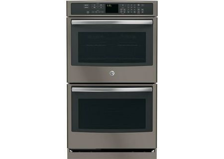 "GE Profile 30"" Slate Built-In Double Wall Oven With Convection - PT7550EHES"