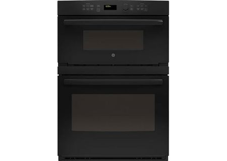 "GE Profile 30"" Black Built-In Convection Combination Microwave Wall Oven - PT7800DHBB"