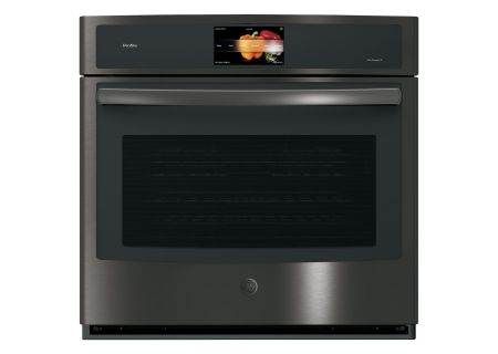 "GE Profile 30"" Black Stainless Built-In Single Convection Wall Oven - PT9051BLTS"