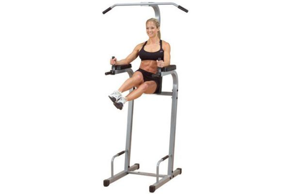 Large image of Powerline By Body-Solid Vertical Knee Raise Machine - PVKC83X