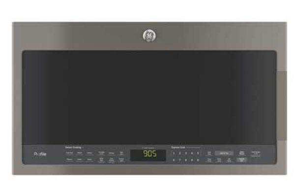 Large image of GE Slate Over-The-Range Microwave Oven - PVM9005EJES