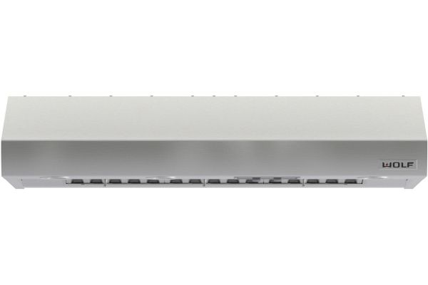 "Large image of Wolf 48"" Stainless Steel Low Profile Wall Hood - PW482210"