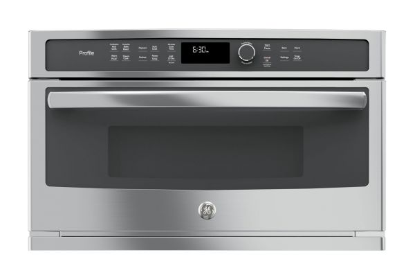 Large image of GE Profile Series Built-In Stainless Steel Microwave Convection Oven - PWB7030SLSS