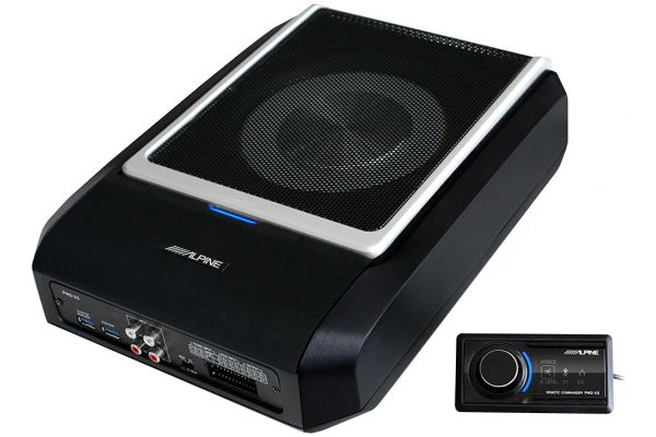 """Large image of Alpine 8"""" Powered Subwoofer With Built-In DSP Amplifier - PWD-X5"""
