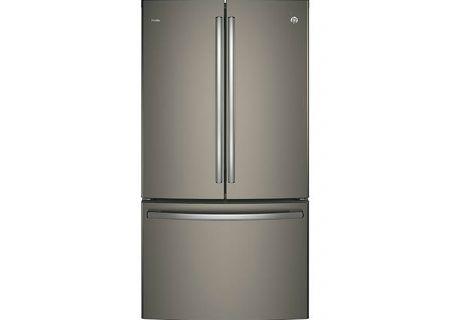 Ge Profile Slate French Door Refrigerator Pwe23kmkes