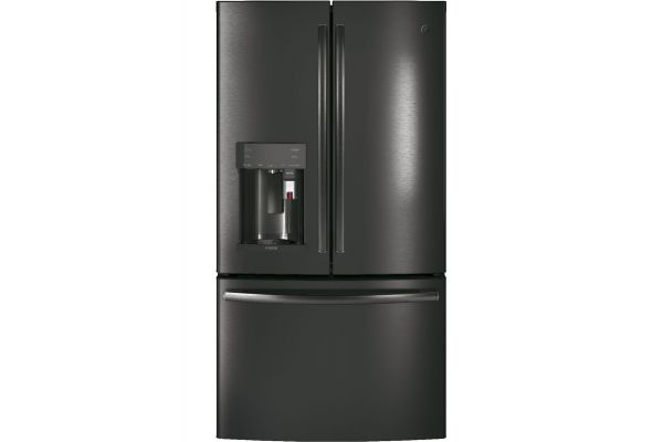 GE Profile Black Stainless Counter-Depth French-Door Refrigerator - PYE22PBLTS