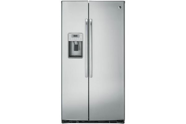 Large image of GE Profile Stainless Steel Counter-Depth Side-By-Side Refrigerator - PZS22MSKSS