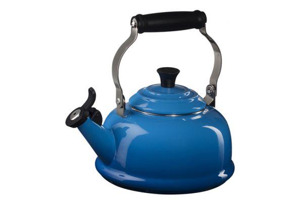 Le Creuset 1.7 QT. Marseilles Blue Whistling Tea Kettle - Q310159