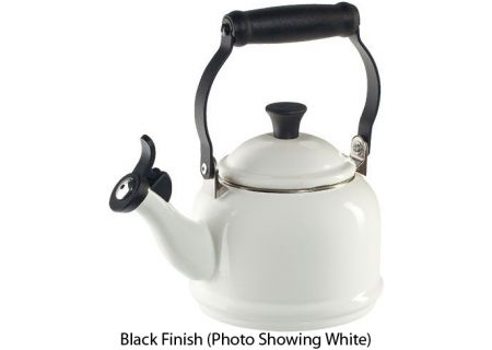 Le Creuset 1.25 Quart Black Demi Tea Kettle - Q940131