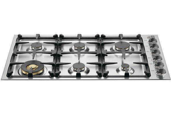 "Bertazzoni 36"" Master Series Stainless Steel Drop-In Gas Cooktop - QB36M600X"