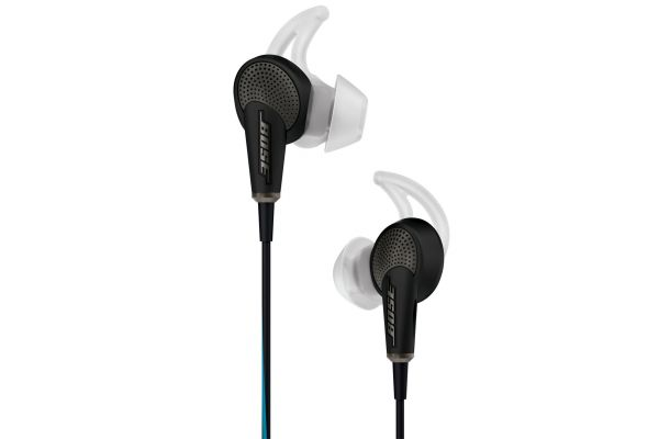 Large image of Bose QuietComfort 20 Black In-Ear Headphones For Apple Devices - 718839-0010