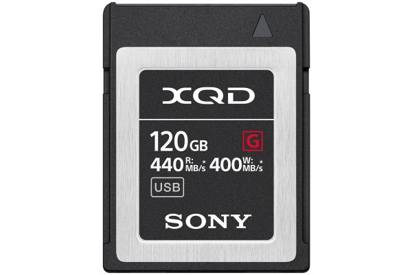 Large image of Sony 120GB XQD G Series Memory Card - QDG120F/J