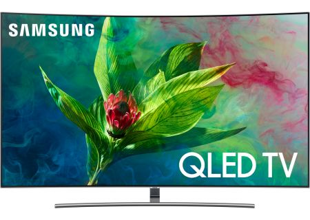 "Samsung 55"" Q7CN Eclipse Silver QLED Curved 4K UHD Smart HDTV - QN55Q7CNAFXZA"