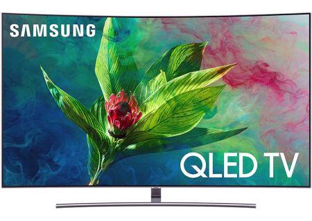 "Samsung 65"" Q7CN Eclipse Silver QLED Curved 4K UHD Smart HDTV - QN65Q7CNAFXZA"