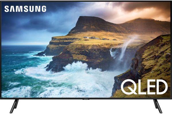 """Samsung 82"""" Q70R Slate Black QLED 4K UHD Smart HDTV - QN82Q70RAFXZA"""