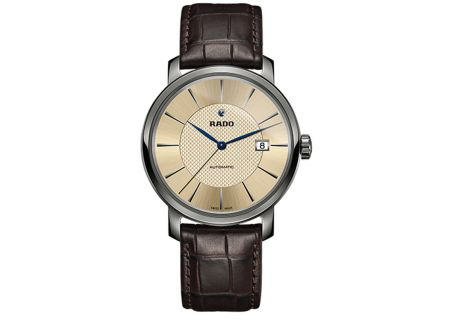 Rado Diamaster XL Automatic Champagne Dial Mens Watch - R14074256