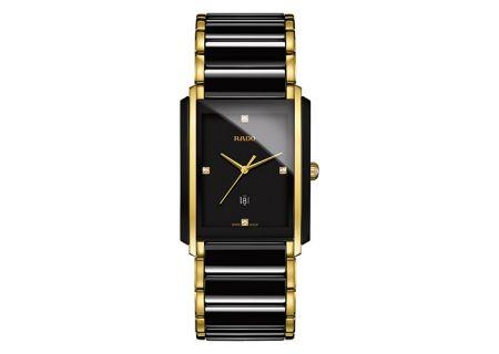 Rado Integral Jubile Two-Tone Black Ceramic And Gold Mens Watch  - R20204712