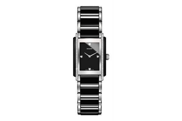 Rado Integral Two-Tone Black And Stainless Steel Womens Watch - R20217712