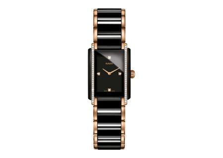 Rado Integral Two-Tone Black Ceramic And Rose Gold Womens Watch - R20228712