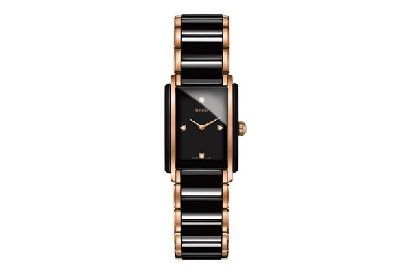 Rado Integral Jubile Two-Tone Black And Rose Gold Womens Watch  - R20612712