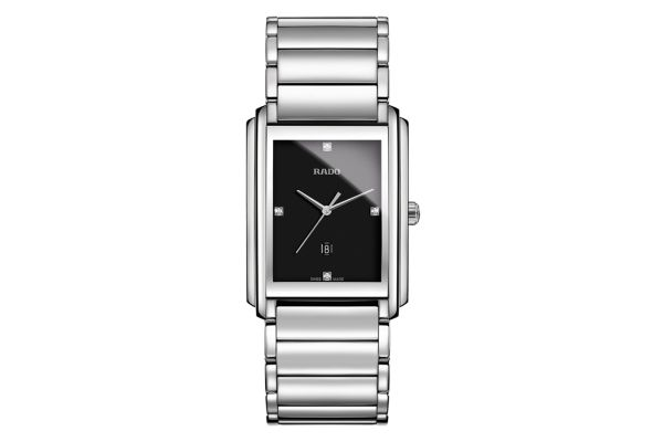 Rado Integral Stainless Steel Quartz Black Dial Mens Watch - R20997713