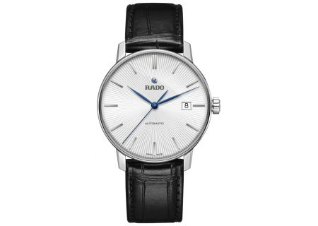 Rado Coupole Classic Automatic Stainless Steel And Black Leather Mens Watch - R22860045