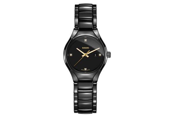Large image of Rado True Black Dial Quartz Ladies Watch - R27059712
