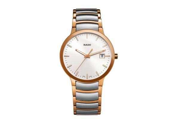Rado Centrix Quartz Two-Tone Mens Watch - R30554103
