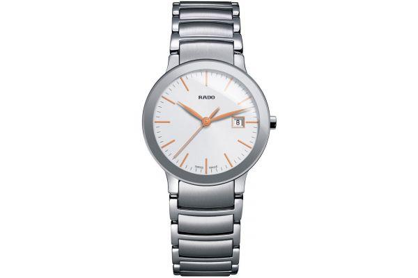 Large image of Rado Centrix S Quartz Stainless Steel Womens Watch - R30928123
