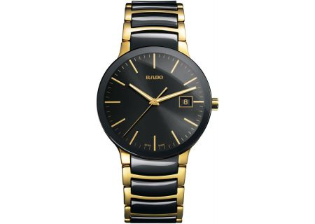 Rado Centrix L Quartz Black Mens Watch - R30929152
