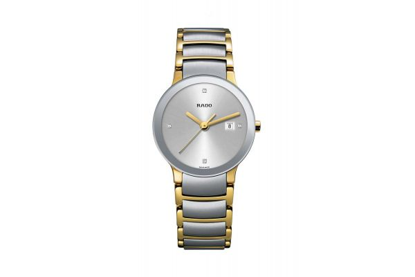 Large image of Rado Centrix S Quartz Jubile Two Tone Womens Watch - R30932713