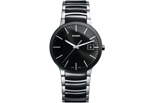 Rado Centrix L Quartz Black Mens Watch - R30934162