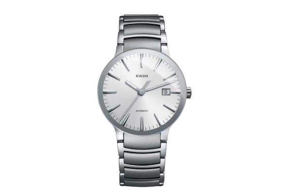 Rado Centrix Mens Stainless Steel Silver Dial Watch - R30939103