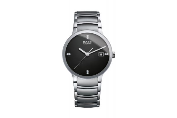 Rado Centrix Jubile Mens Stainless Steel Black Dial Watch - R30939703