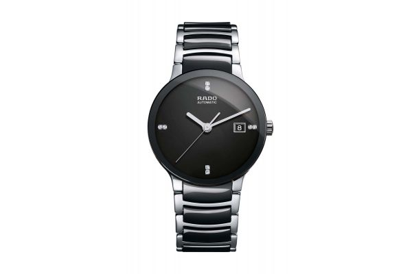 Rado Centrix Automatic Black Stainless Steel Mens Watch - R30941702