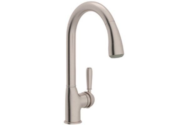 Rohl Satin Nickel Classic Pull-Down Kitchen Faucet - R7504S-LM/STN-2