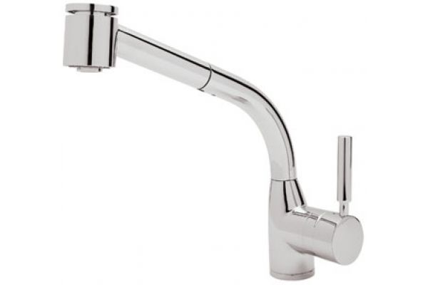 Large image of Rohl Polished Chrome Modern Lux Side Lever Pull-Out Kitchen Faucet - R7923APC