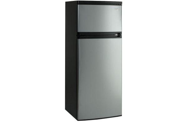 Large image of Avanti 7.4 Cu. Ft. Black With Platinum Two Door Apartment Size Refrigerator - RA7316PST