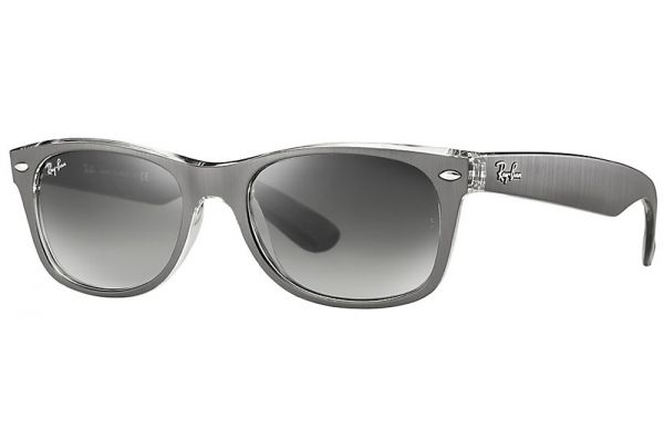 Large image of Ray-Ban Wayfarer Metal Effect Grey Gradient Sunglasses - RB2132 614371