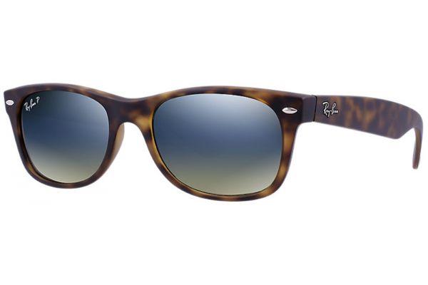 Ray-Ban New Wayfarer Matte Havana Polarized Unisex Sunglasses - RB21328947655