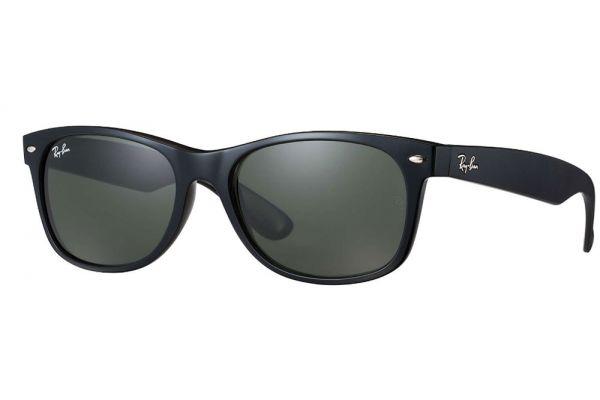Large image of Ray-Ban New Wayfarer Classic Black Unisex Sunglasses - RB2132 901 52-18