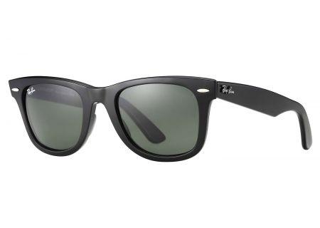 Ray-Ban Original Wayfarer Classic Black And Green Sunglasses - RB2140 901 54-18