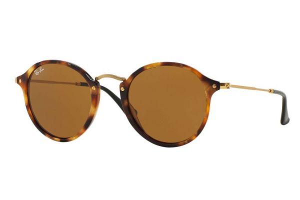 Large image of Ray-Ban Phantos Fleck Brown Classic B-15 Mens Sunglasses - RB2447 1160 49