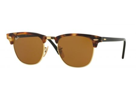 Ray-Ban Clubmaster Fleck Havana Brown Unisex Sunglasses - RB301611604921