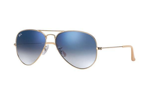 Large image of Ray-Ban Aviator Gold Unisex Sunglasses - RB3025 001/3F 58-14